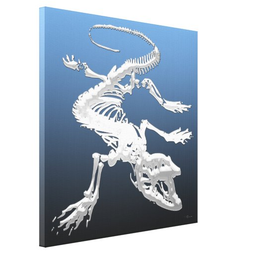 Komodo Dragon Skeleton 999.9: komodo dragon skeleton gallery wrapped ...