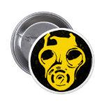 999 Gas Mask Design 2 Inch Round Button