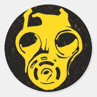 999 Gas Mask Design Round Sticker