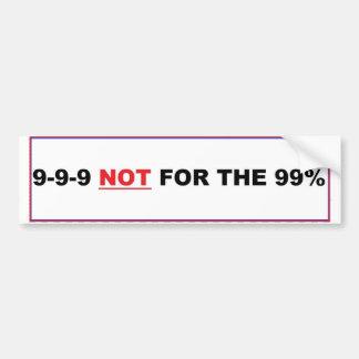 999 no para el 99% etiqueta de parachoque