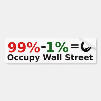 99% - 1% = Singularity, Occupy Wall Street Bumper Sticker