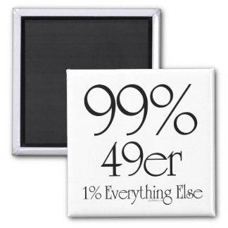 99% 49er! refrigerator magnets