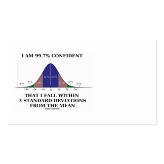 99.7% Confident Within 3 Standard Deviations Double-Sided Standard Business Cards (Pack Of 100)