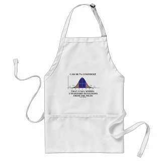 99.7% Confident Within 3 Standard Deviations Mean Adult Apron