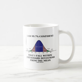 99.7% Confident Within 3 Standard Deviations Mean Classic White Coffee Mug