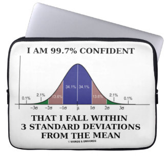 99.7% Confident Within 3 Standard Deviations Mean Laptop Sleeve