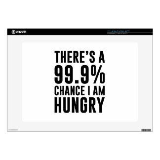 99.9 Chance I'm Hungry Laptop Decals
