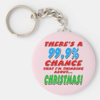 99.9% CHRISTMAS (blk) Keychain
