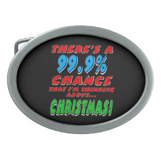 99.9% CHRISTMAS (wht) Belt Buckle
