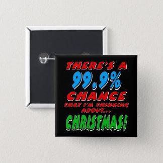 99.9% CHRISTMAS (wht) Button