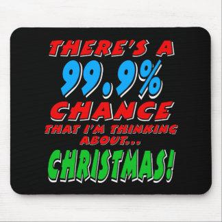 99.9% CHRISTMAS (wht) Mouse Pad