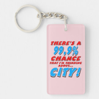 99.9% CITY (blk) Keychain