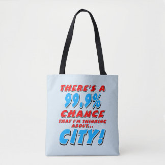 99.9% CITY (blk) Tote Bag