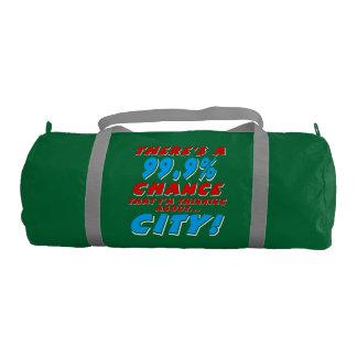99.9% CITY (wht) Gym Bag