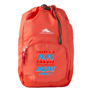 99.9% GOING TO BE AWESOME (wht) High Sierra Backpack