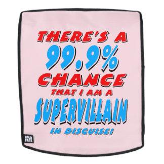 99.9% I am a SUPER VILLAIN (blk) Backpack