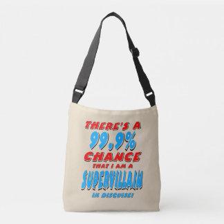99.9% I am a SUPER VILLAIN (blk) Crossbody Bag