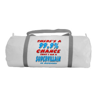99.9% I am a SUPER VILLAIN (blk) Duffle Bag