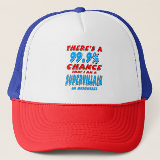99.9% I am a SUPER VILLAIN (blk) Trucker Hat