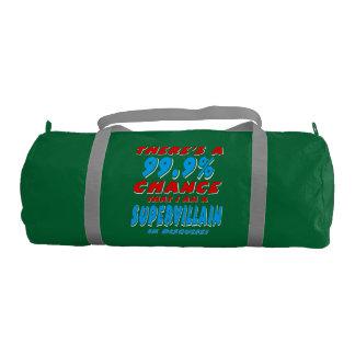 99.9% I am a SUPER VILLAIN (wht) Duffle Bag