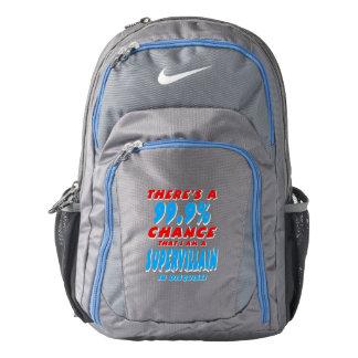 99.9% I am a SUPER VILLAIN (wht) Nike Backpack
