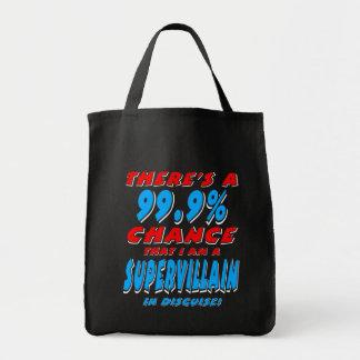 99.9% I am a SUPER VILLAIN (wht) Tote Bag