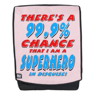 99.9% I am a SUPERHERO (blk) Backpack