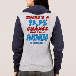 99.9% I am a SUPERHERO (blk) Hoodie