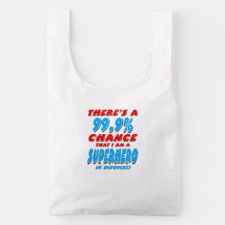 99.9% I am a SUPERHERO (blk) Reusable Bag