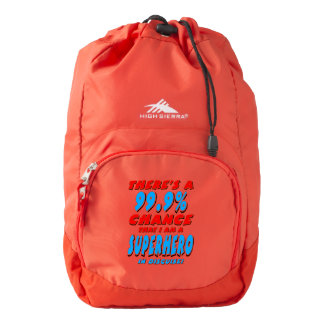 99.9% I am a SUPERHERO (wht) Backpack