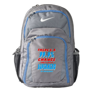 99.9% I am a SUPERHERO (wht) Nike Backpack