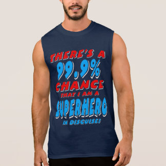 99.9% I am a SUPERHERO (wht) Sleeveless Shirt