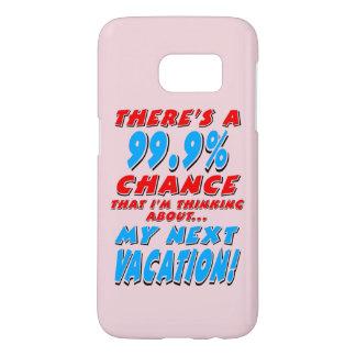 99.9% NEXT VACATION (blk) Samsung Galaxy S7 Case