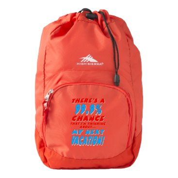 99.9% NEXT VACATION (wht) High Sierra Backpack