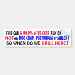 99.9% of US cars run on GAS not PLUTONIUM or MULCH Car Bumper Sticker
