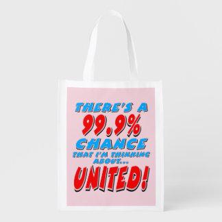 99.9% UNITED (blk) Grocery Bag