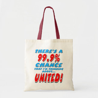 99.9% UNITED (blk) Tote Bag