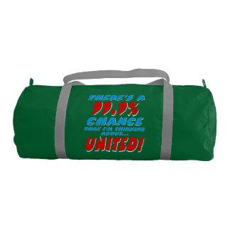 99.9% UNITED (wht) Gym Bag