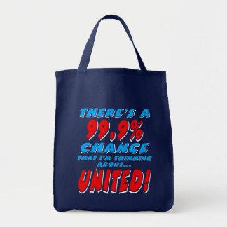 99.9% UNITED (wht) Tote Bag