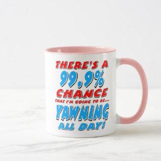 99.9% YAWNING ALL DAY (blk) Mug