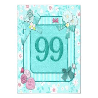 99.a invitación de la fiesta de cumpleaños