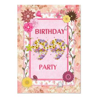 99.a invitación de la fiesta de cumpleaños con el