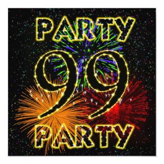 99.a invitación de la fiesta de cumpleaños con los