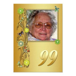 99.a invitación de la fiesta de cumpleaños del