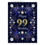 99.a tarjeta de cumpleaños con las masas de joyas