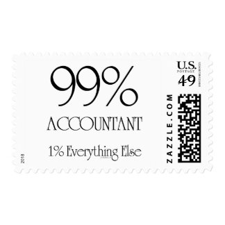99% Accountant Postage Stamp