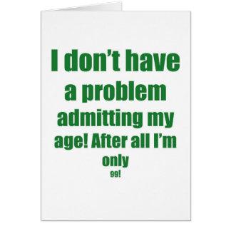 99 admita mi edad tarjeton