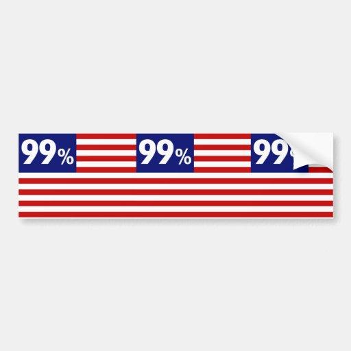 99 % American Flag - Occupy Wall Street Car Bumper Sticker