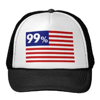 99 % American Flag - Occupy Wall Street Trucker Hat