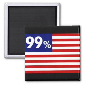 99 % American Flag - Occupy Wall Street Magnet